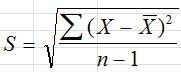 Standard Deviation Equation