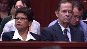 Zimmerman's Parents.  One white, one hispanic.