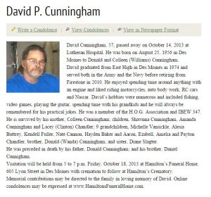 David Obituary